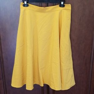 Marigold Just this Sway A-Line Skirt M Spot Read